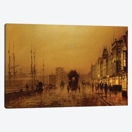 Glasgow Docks, 1892  Canvas Print #BMN10635} by John Atkinson Grimshaw Canvas Print