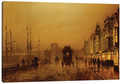 Glasgow Docks, 1892  Canvas Art Print