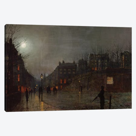 Going Home at Dusk, 1882  Canvas Print #BMN10636} by John Atkinson Grimshaw Art Print