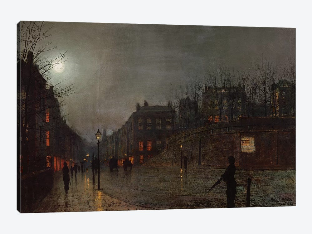 Going Home at Dusk, 1882  by John Atkinson Grimshaw 1-piece Canvas Art Print