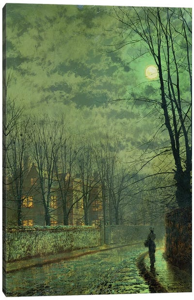 Going Home by Moonlight Canvas Art Print
