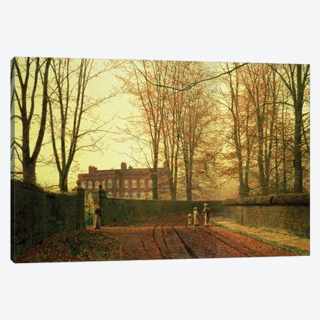 Going to Church, 1880  Canvas Print #BMN10638} by John Atkinson Grimshaw Canvas Artwork