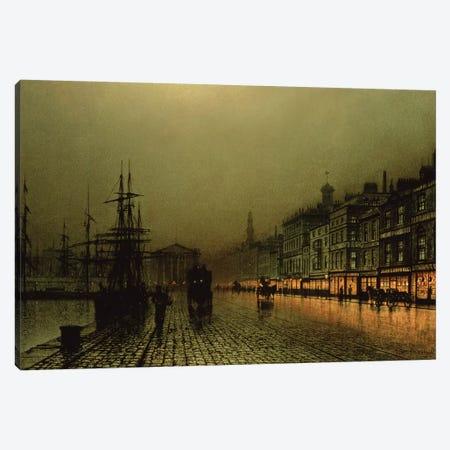 Greenock Dock by Moonlight Canvas Print #BMN10639} by John Atkinson Grimshaw Canvas Art