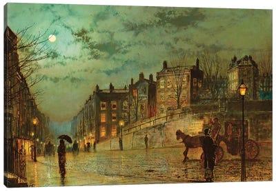 Hampstead Hill, Looking Down Heath Street, 1881  Canvas Art Print