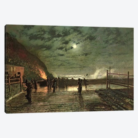 In Peril  1879  Canvas Print #BMN10641} by John Atkinson Grimshaw Art Print