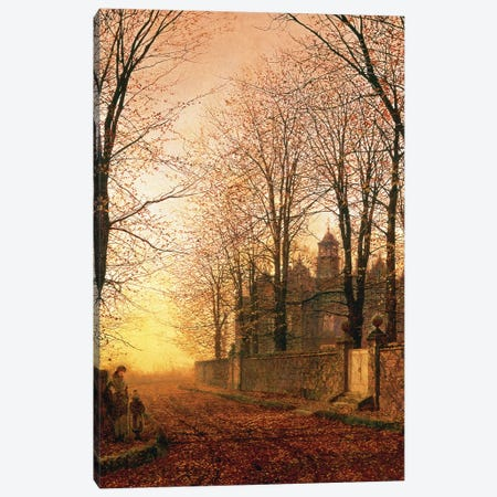 In the Golden Olden Time, c.1870 Canvas Print #BMN10642} by John Atkinson Grimshaw Canvas Art Print