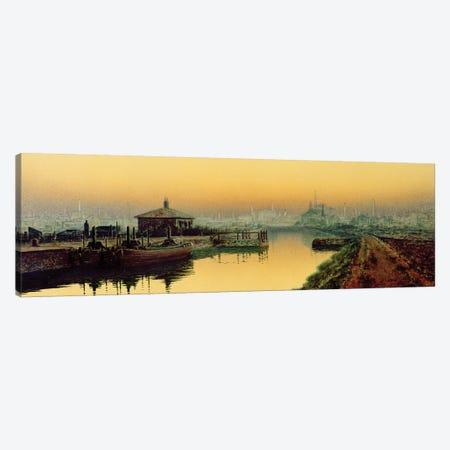 Knostrop Cut, Leeds, Sunday Night, 1893  Canvas Print #BMN10644} by John Atkinson Grimshaw Canvas Artwork