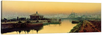 Knostrop Cut, Leeds, Sunday Night, 1893  Canvas Art Print