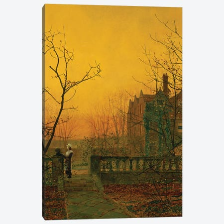 Knostrop Hall, Leeds  Canvas Print #BMN10645} by John Atkinson Grimshaw Canvas Artwork