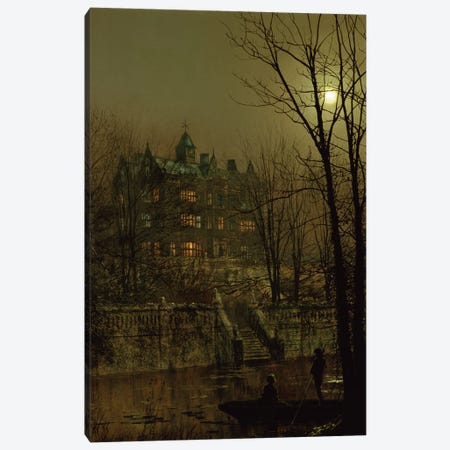 Knostrop Old Hall, Leeds, 1883 Canvas Print #BMN10646} by John Atkinson Grimshaw Canvas Artwork