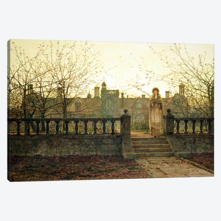Lady bountiful Canvas Print #BMN10647} by John Atkinson Grimshaw Canvas Art