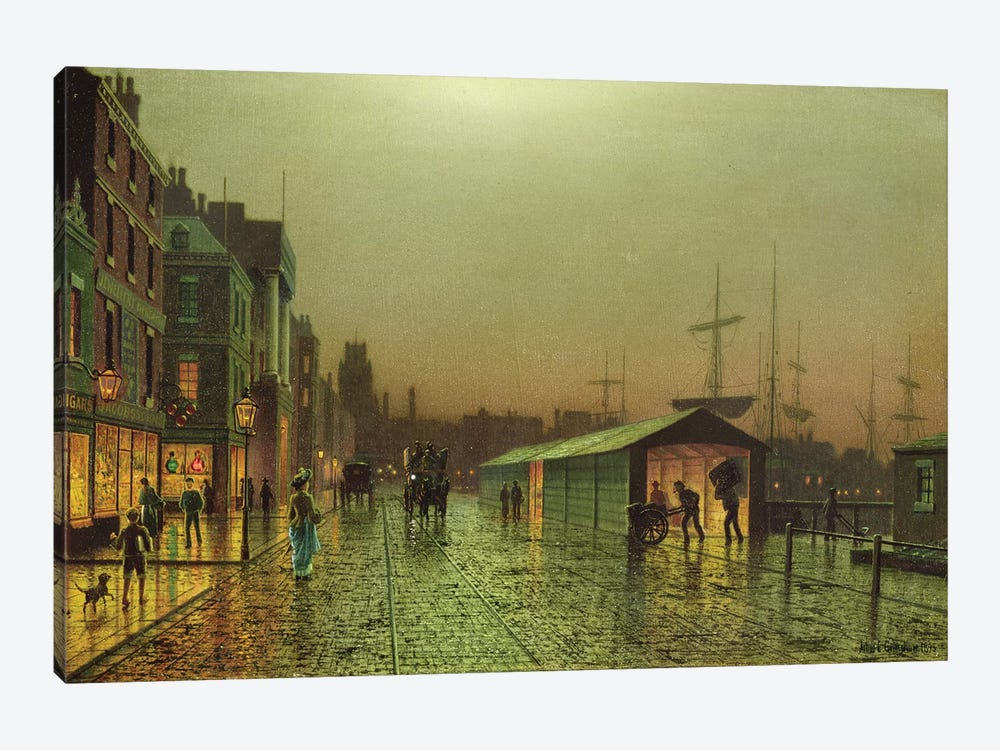 Liverpool Docks by John Atkinson Grimshaw 1-piece Canvas Artwork