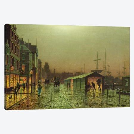 Liverpool Docks 3-Piece Canvas #BMN10648} by John Atkinson Grimshaw Canvas Art Print