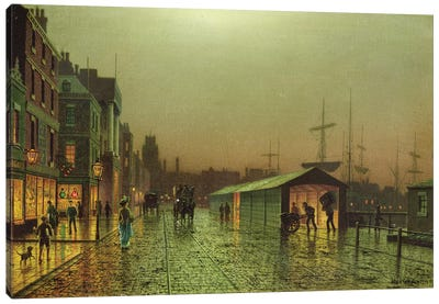 Liverpool Docks Canvas Art Print