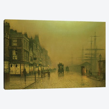 Liverpool Docks Canvas Print #BMN10649} by John Atkinson Grimshaw Art Print
