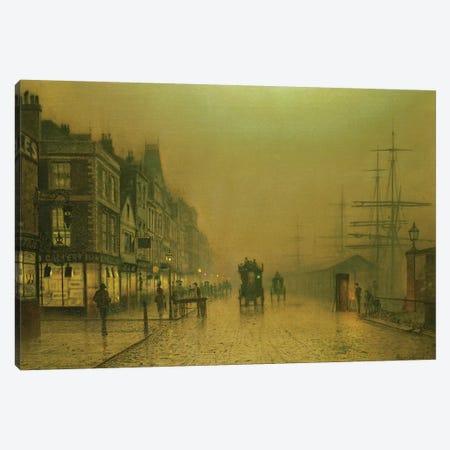 Liverpool Docks Canvas Print #BMN10649} by John Atkinson Grimshaw Art Print