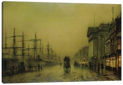 Liverpool Docks Customs House and Salthouse Docks, Liverpool  Canvas Art Print