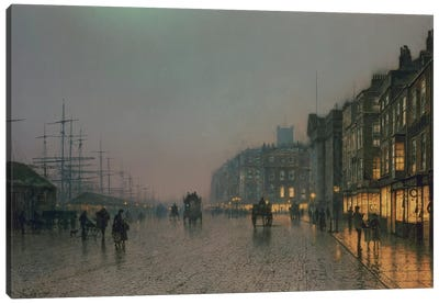 Liverpool Docks from Wapping, c.1870,  Canvas Art Print