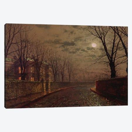 Moonlit Street Scene, 1882  Canvas Print #BMN10656} by John Atkinson Grimshaw Canvas Print