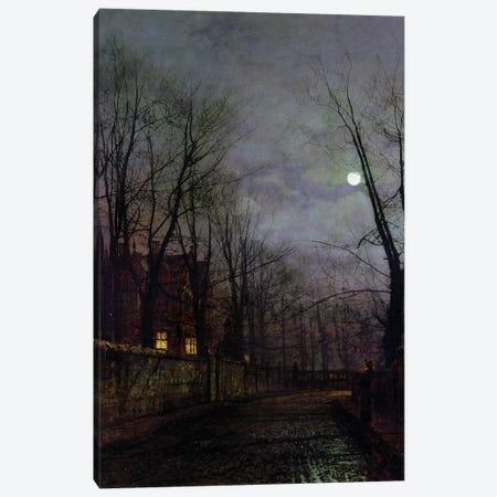Moonlit Street Scene, 1882  Canvas Print #BMN10657} by John Atkinson Grimshaw Canvas Print