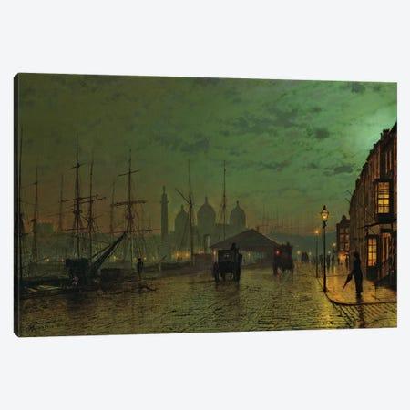 Prince's Dock, Hull, 1882  Canvas Print #BMN10661} by John Atkinson Grimshaw Canvas Art Print