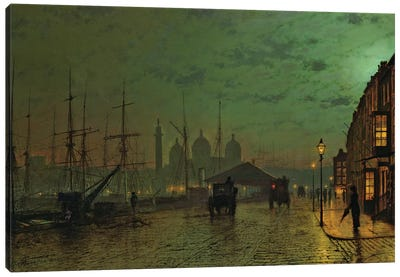 Prince's Dock, Hull, 1882  Canvas Art Print