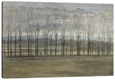 View from Merton College, 28 February 1791  Canvas Art Print