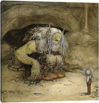 The Troll and the Boy  Canvas Art Print