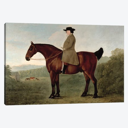 Robert Bakewell  on Horseback  Canvas Print #BMN10672} by John Boultbee Canvas Art