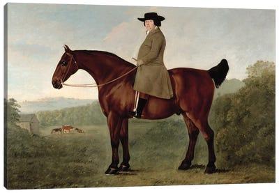 Robert Bakewell  on Horseback  Canvas Art Print