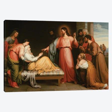 Christ healing the mother of Simon Peter Canvas Print #BMN10673} by John Bridges Canvas Art