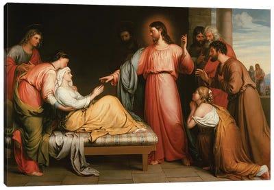 Christ healing the mother of Simon Peter Canvas Art Print