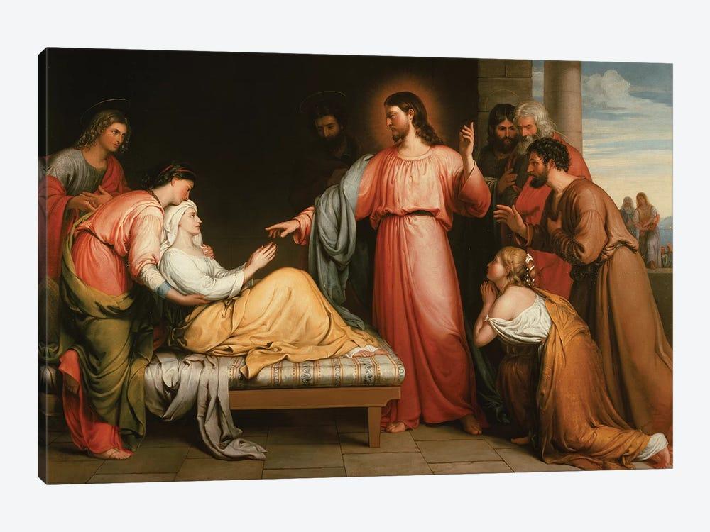 Christ healing the mother of Simon Peter by John Bridges 1-piece Canvas Art