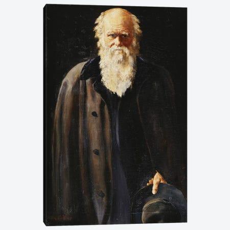 Portrait of Charles Darwin, standing three quarter length, 1897  Canvas Print #BMN10679} by John Collier Canvas Art