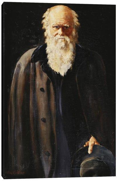 Portrait of Charles Darwin, standing three quarter length, 1897  Canvas Art Print
