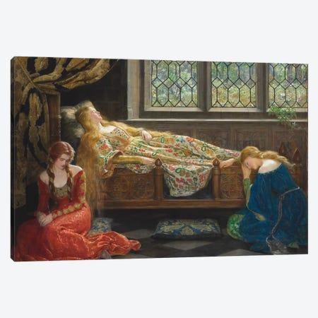 The Sleeping Beauty, 1921  Canvas Print #BMN10681} by John Collier Canvas Print