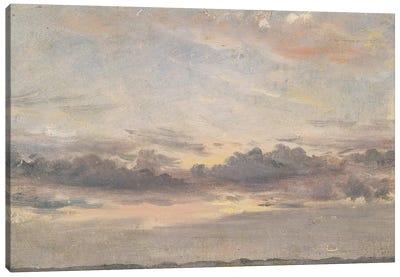 A Cloud Study, Sunset, c.1821  Canvas Art Print