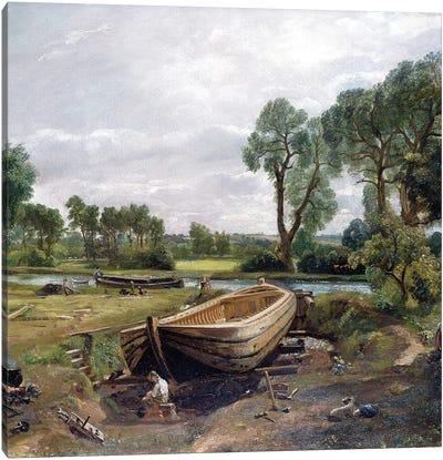 Boat-Building near Flatford Mill, 1815  Canvas Art Print