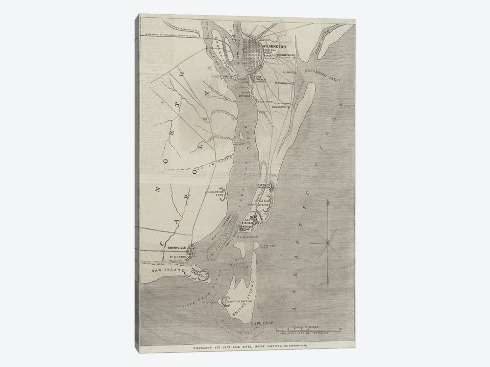 Wilmington and Cape Fear River, North Carolina  by John Dower 1-piece Canvas Print