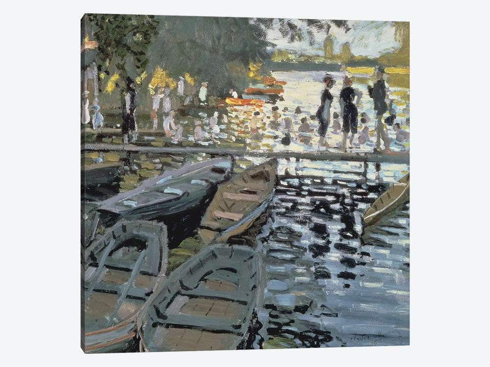 Bathers at La Grenouillere, 1869   by Claude Monet 1-piece Canvas Print