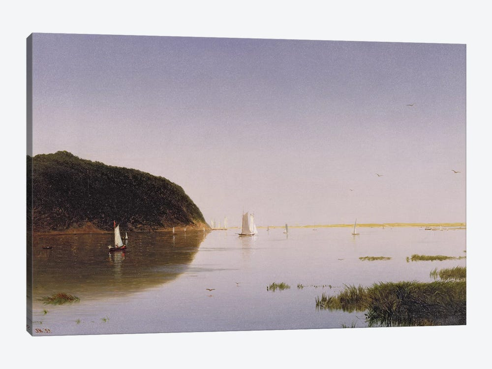 Shrewsbury River, New Jersey, 1859  by John Frederick Kensett 1-piece Canvas Print