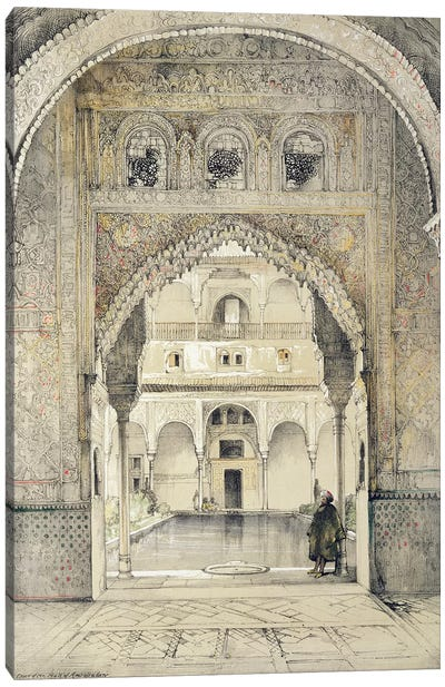 Door of the Hall of Ambassadors, from 'Sketches and Drawings of the Alhambra', engraved by William Gauci , 1835  Canvas Art Print
