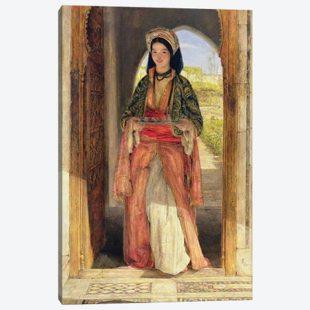 The Coffee Bearer, 1857  Canvas Print #BMN10703} by John Frederick Lewis Canvas Art