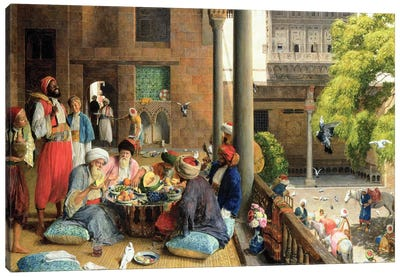 The Midday Meal, Cairo, 1875  Canvas Art Print