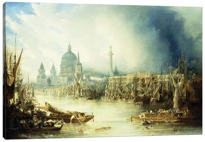 A View of London  Canvas Art Print