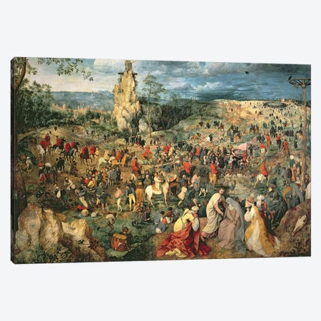 Christ carrying the Cross, 1564 Canvas Print #BMN1070} by Pieter Brueghel the Elder Art Print