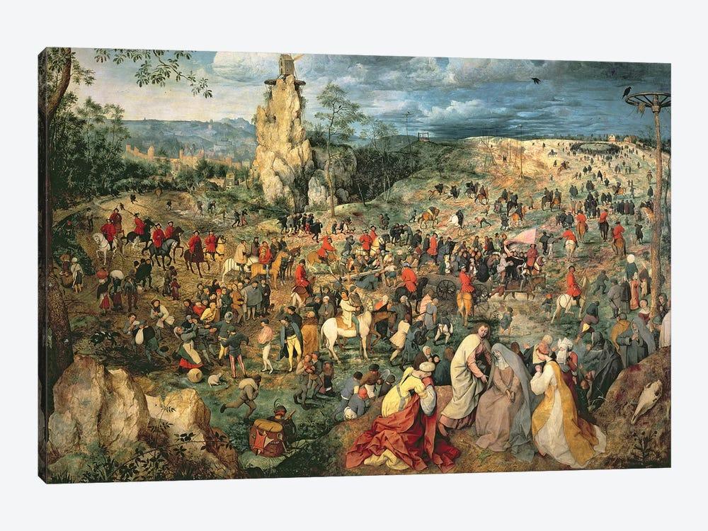 Christ carrying the Cross, 1564 by Pieter Brueghel the Elder 1-piece Canvas Wall Art