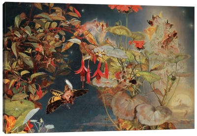 Midsummer Fairies, c.1856 Canvas Art Print