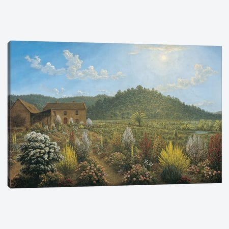 A View of the Artist's House and Garden, in Mills Plains, Van Diemen's Land, 1835  Canvas Print #BMN10711} by John Glover Canvas Print