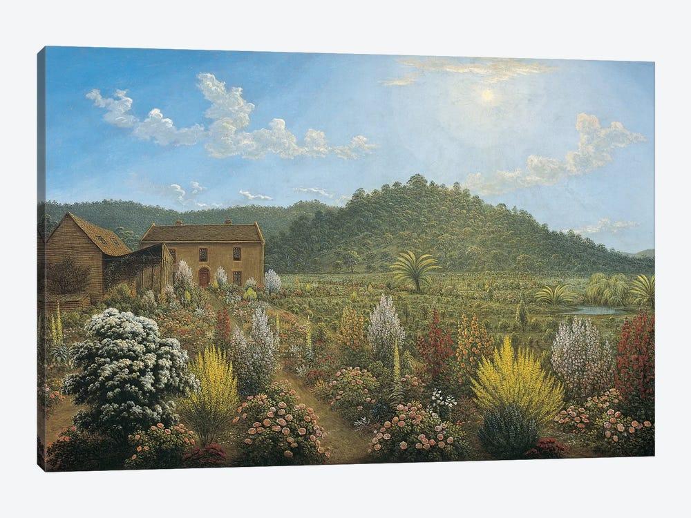 A View of the Artist's House and Garden, in Mills Plains, Van Diemen's Land, 1835  by John Glover 1-piece Canvas Art Print
